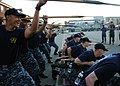 US Navy 110823-N-AU127-179 Chief selectees perform boarding pike drills on the USS Constitution.jpg