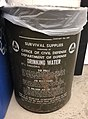 US Office of Civil Defense drinking water container used as trashcan.jpg