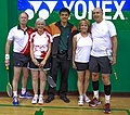 US Senior International Badminton Tourney (Miami) - MX 60 Final - Ian & Sanne def Curt & Susan 21-16, 11-21 & 21-9 (16623877846).jpg