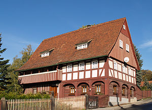 Upper Lusatian house - Umgebindehaus in Ebersbach/Sa.