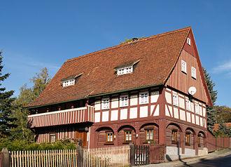 Upper Lusatian house - Umgebindehaus in Ebersbach/Sa.