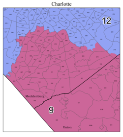 United States Congressional Districts in North Carolina (metro highlight), 2021 - 2023.tif