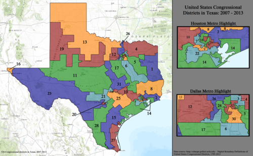 United States Congressional Districts in Texas, 2007–2013.tif