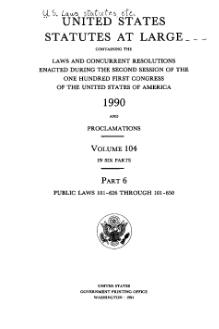 United States Statutes at Large Volume 104 Part 6.djvu