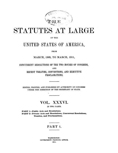 File:United States Statutes at Large Volume 36 Part 1.djvu