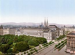Historistisch geprägtes stadtbild in wien um 1900 universität im