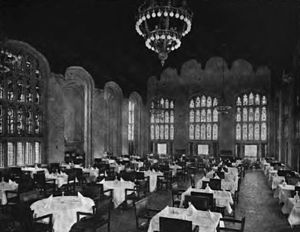 University Club of Chicago - The dining room, 1909
