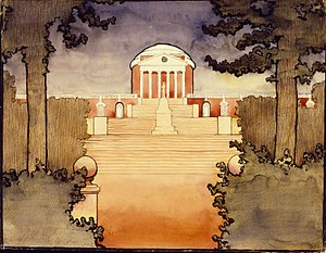 O'Keeffe at the University of Virginia, 1912–1914 - Untitled, The Rotunda, 1912–1914, Georgia O'Keeffe Museum