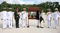 Unveiling of the plaque of Naval Air Station INS Baaz.JPG