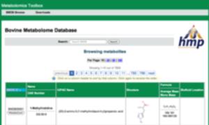Bovine Metabolome Database - Bovine metabolomic database