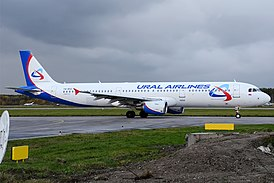 Ural Airlines, VQ-BOZ, Airbus A321-211 (16456198165).jpg