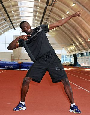 2010 IAAF Diamond League - World record holder Usain Bolt is the most prominent ambassador.