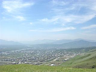 Ust-Koksa Selo in Altai Republic, Russia