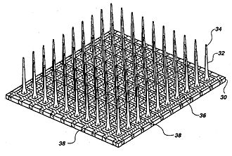 "Brain implant - Schematic of the ""Utah"" Electrode Array"