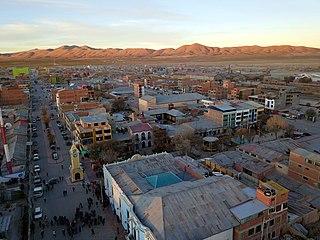 Uyuni City in Potosí Department, Bolivia