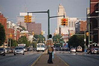 Broad Street (Richmond, Virginia) - Looking East on Broad Street at VCU
