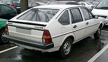 white hatchback automobile