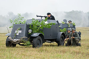 Kfz 13 - The Kfz 13 during a re-enactment of the Battle of Mława, 2012
