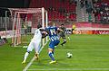 Valais Cup 2013 - OM-FC Porto 13-07-2013 - Maicon et Achille Anani 1.jpg