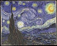 Винсент Ван Гог. Звёздная ночь, 1889 г.