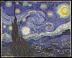 لوحة الليلة المضيئة بالنجوم (1889)