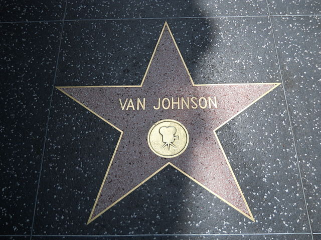 Van Johnson star HWF.JPG