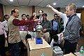 Van de Graaff Generator Experimentation - Indo-Finnish-Thai Exhibit Development Workshop - NCSM - Kolkata 2014-11-27 9756.JPG