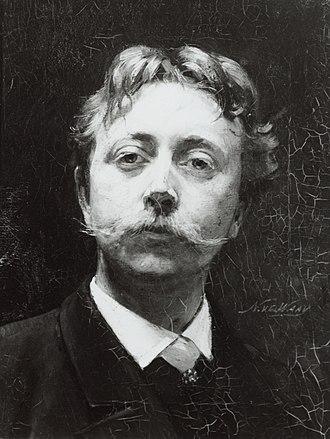 Nicolaas van der Waay - Self-portrait, c.1890