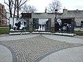 Varšava, Śródmieście, ulice Bednarska, výstava o březnu 1968.JPG