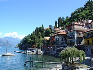 Varenna, on the eastern shore of Lake Como.