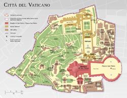 梵蒂冈城国地图(意大利语)