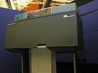 IBM 1403 High speed line printer, introduced in 1959 and used into the 1970s