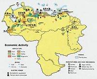 Економічна карта венесуели 1972