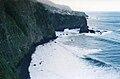 Vertical cliffs facing the sea are the habitat for Plantago leiopetala. Porto Moniz in October 1999. Image by Omar Hoftun..jpg