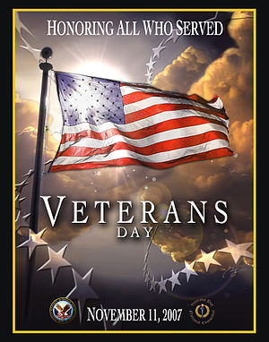 Veterans Day 2007 poster from the United State...