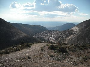 Real de Catorce - View of Real de Catorce from the hill behind the town center
