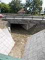 View from Beri Balogh footbridge to east, Bataszeki Road (Route 56) bridge, 2016 Szekszard.jpg