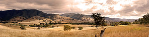 Shire of East Gippsland - The panoramic view from Connors Hill, near Swifts Creek, Victoria