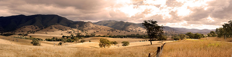 View from Connors Hill in Shire of East Gippsland, Victoria, Australia - show another panorama