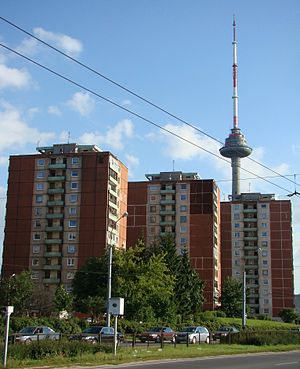 Karoliniškės - Apartment complexes in Karoliniškės district