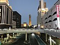 View of Kaikyo Yume Tower in front of Shimonoseki Station at night.jpg