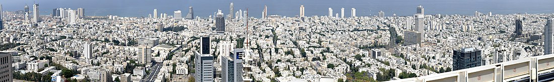 View of Tel Aviv from the Azrieli Center (Panorama).jpg