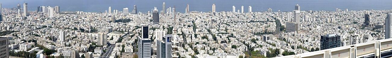 Zicht op Tel Aviv