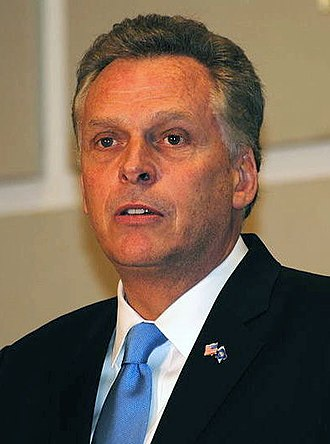 2013 Virginia gubernatorial election - Image: Virginia Governor Democrats Terry Mc Auliffe 095 Cropped (cropped)