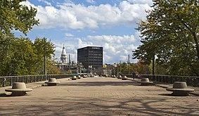 Vista de Lafayette desde el puente de Main St, Indiana, Estados Unidos, 2012-10-15, DD 01