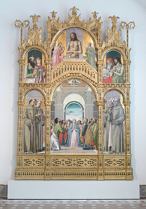 Alvise Vivarini - Alvise Vivarini: Retable of the Pentecost (Bode-Museum, Berlin)