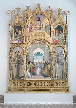 Alvise Vivarini - Alvise Vivarini: Retable of the Pentecost (Bode-Museum, Berlin)