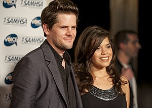 Ryan Piers Williams - Ryan Piers Williams and his wife America Ferrera on the red carpet for Voice Awards.