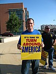 WI Union activists protest outside McCain Town Hall in Racine, July 31, 2008 (2722992356).jpg
