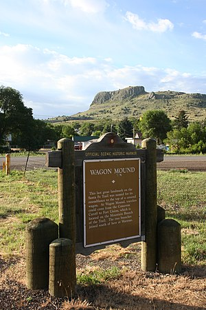 Wagon Mound, New Mexico - Image: Wagon Mound Marker